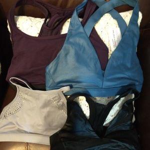 Bundle of 4 Victoria's Secret Sport Bras Sz S NEW